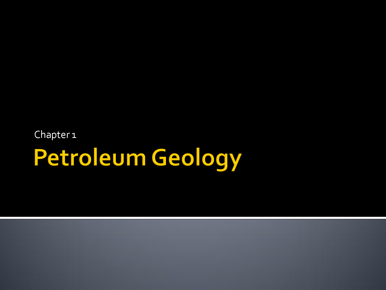 Master of Technology (MTech Petroleum Geology)