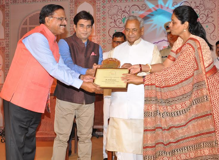 Dr. Ashok Gupta received Shan-E- Rajasthan award from the Governor