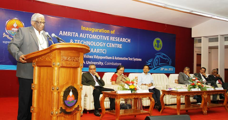 Amrita University launches Amrita Automotive Research &  Technology Centre (AARTC) to bridge Industry and Academia