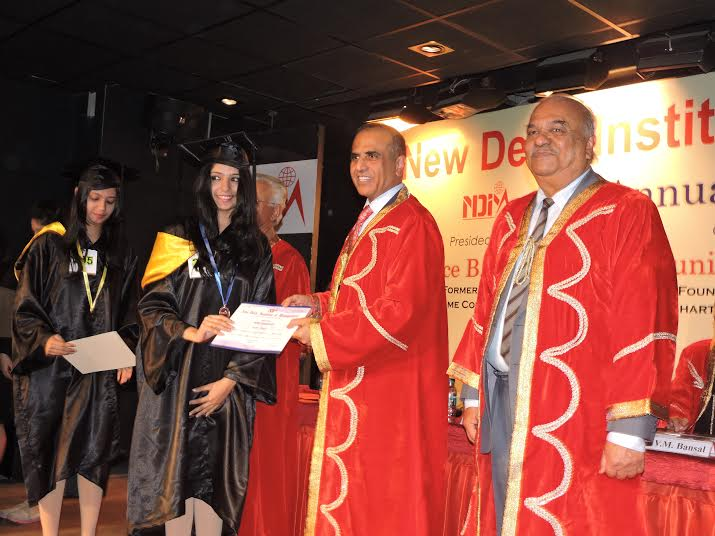 Sunil Mittal awards PGDM degree to NDIM Students