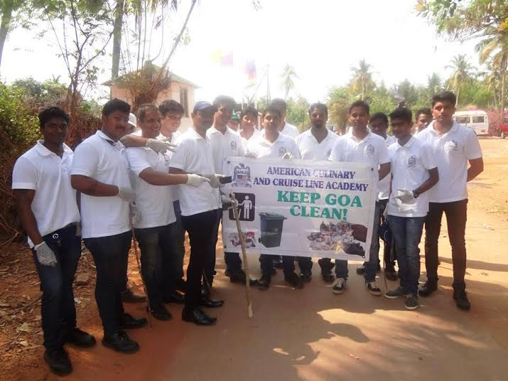 American Culinary and Cruise Line Academy organises Keep Goa Clean activity