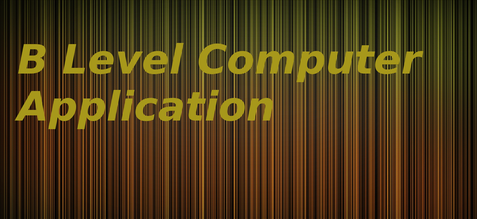 B Level Computer Application