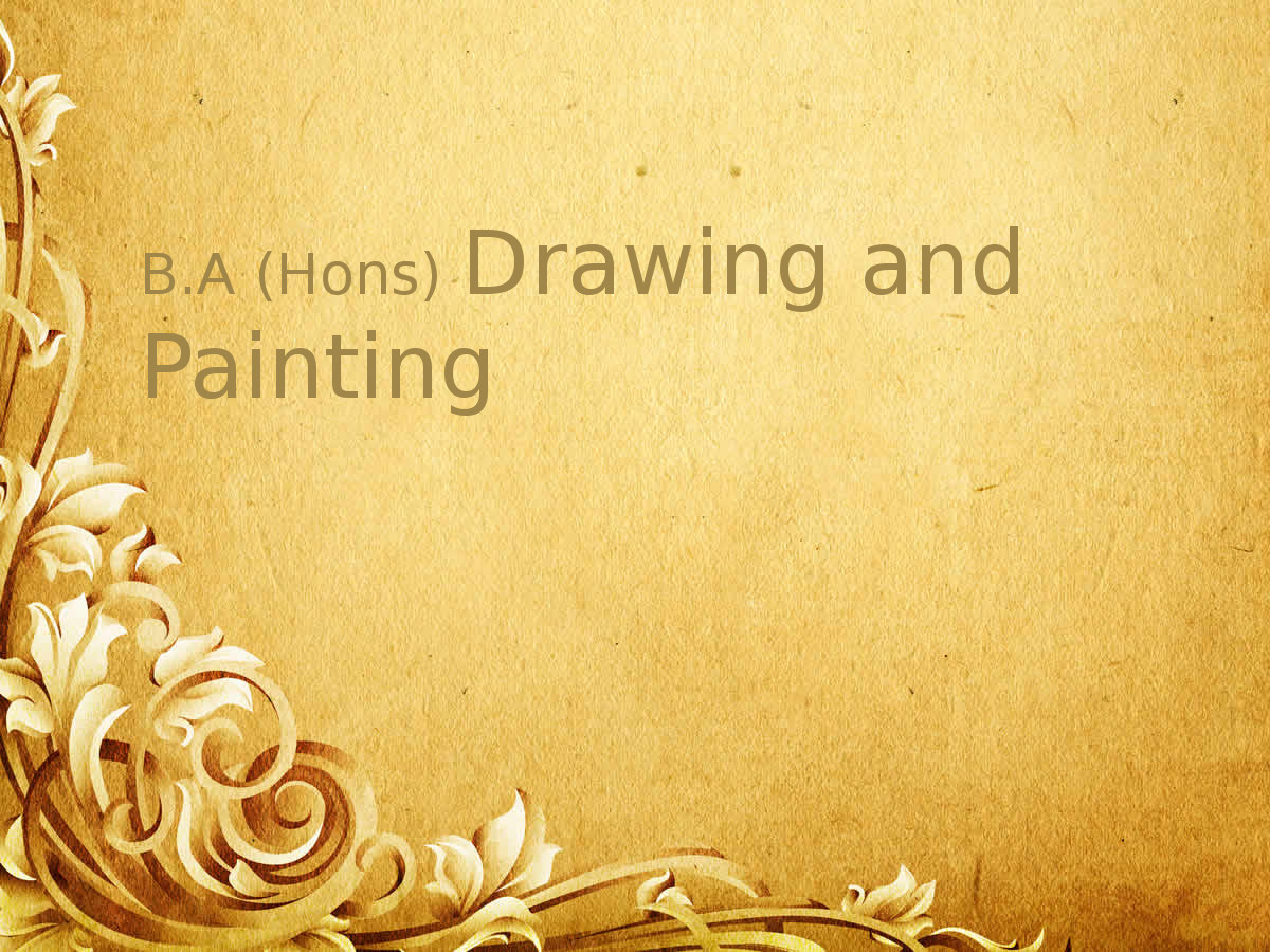 Bachelor of Arts (BA Drawing and Painting Hons)