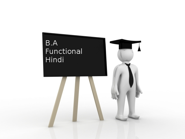 Bachelor of Arts (BA Functional Hindi)