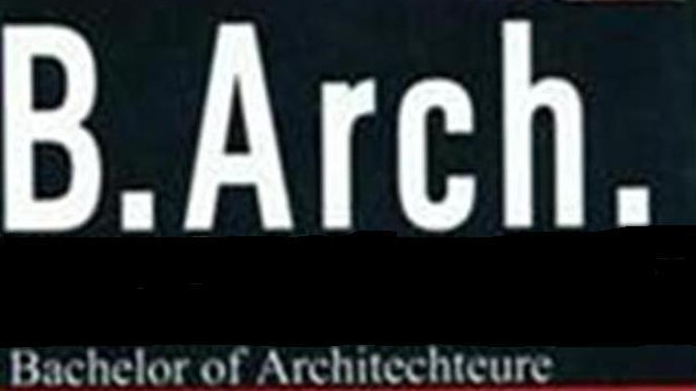 Bachelor of Architecture (BArch)