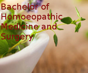 Bachelor of Homoeopathic Medicine and Surgery (BHMS)