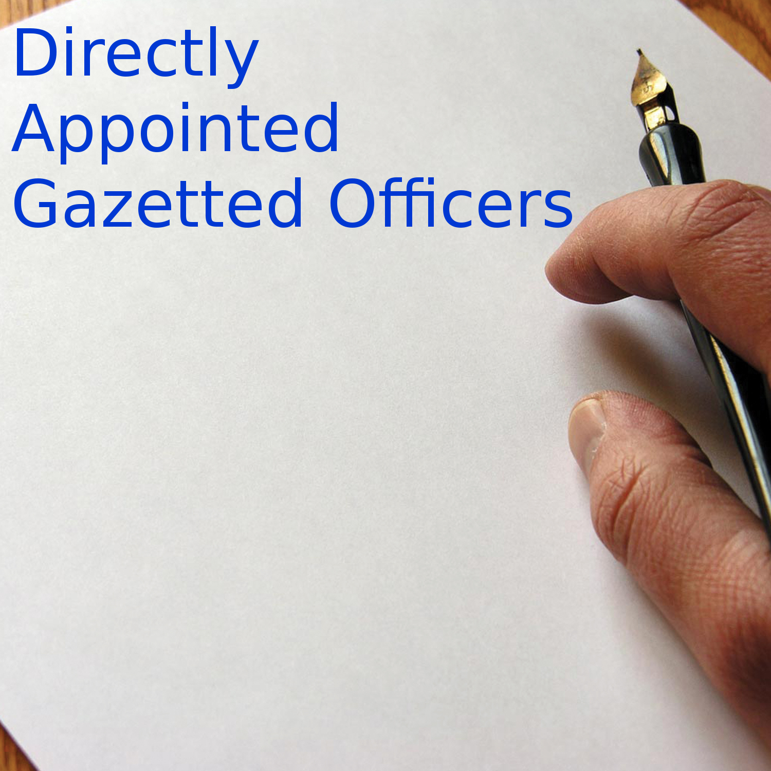 Directly Appointed Gazetted Officers