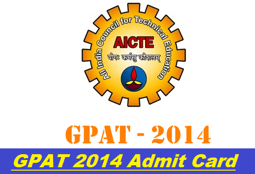 GPAT 2014 Admit Card Released
