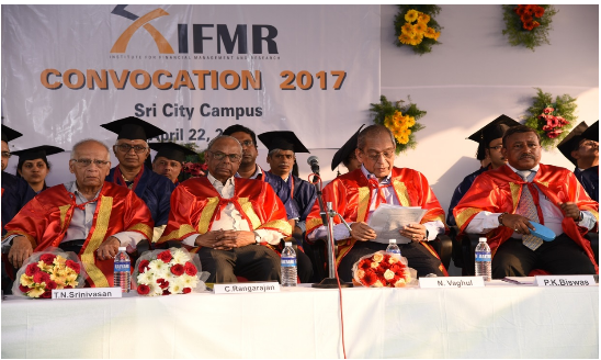 Institute for Financial Management & Research (IFMR) host convocation 2017