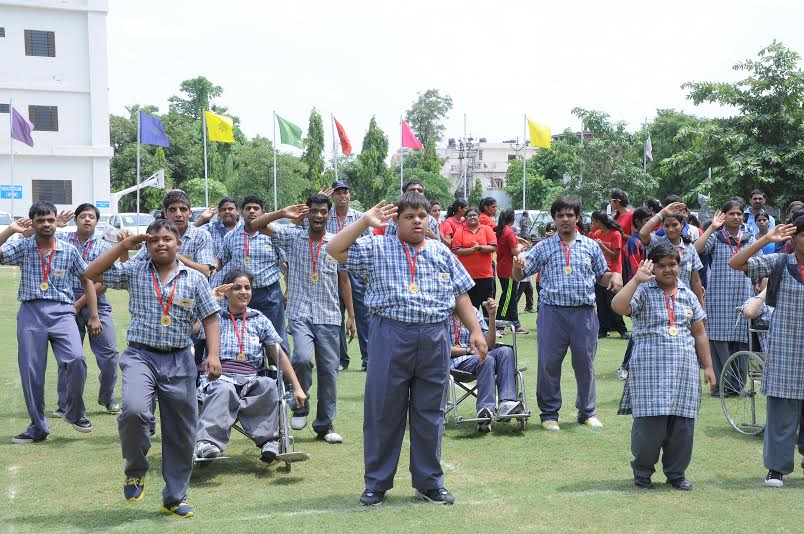 The IIS University celebrates National Sports Day with special children