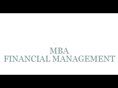 Master of Business Administration (MBA Financial Management)