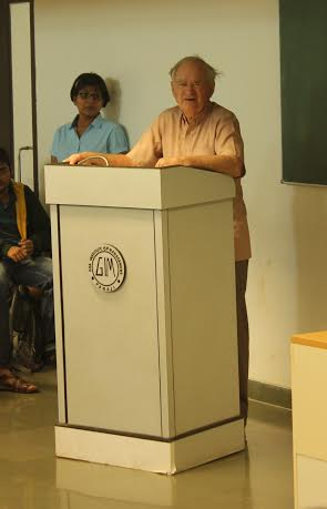 Emeritus Dr. Malcolm Harper visits Goa Institute of Management