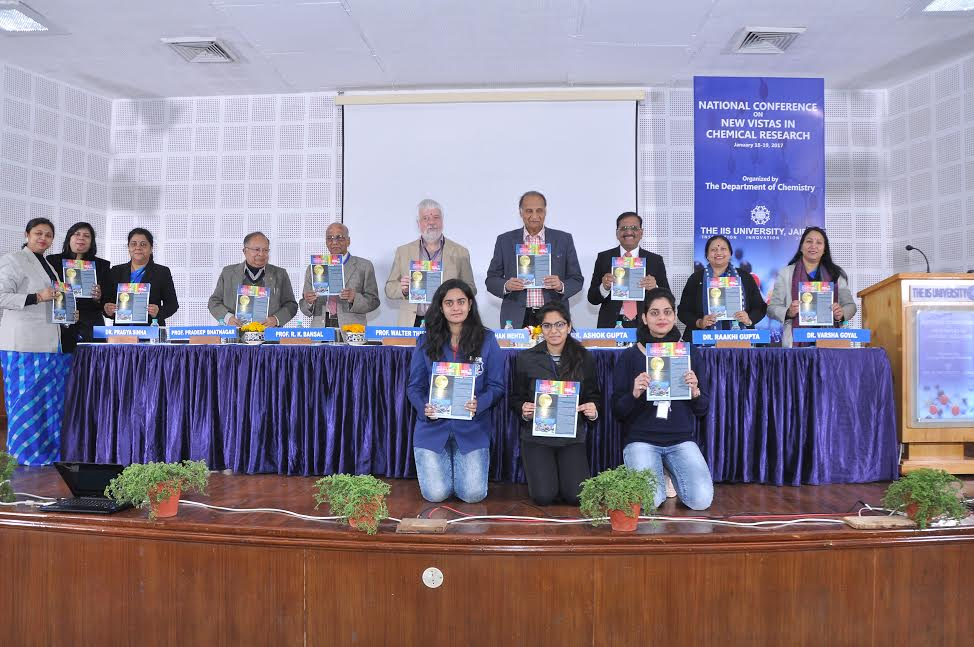 "National Conference on ""New Vistas in Chemical Research"" organized by The IIS University."