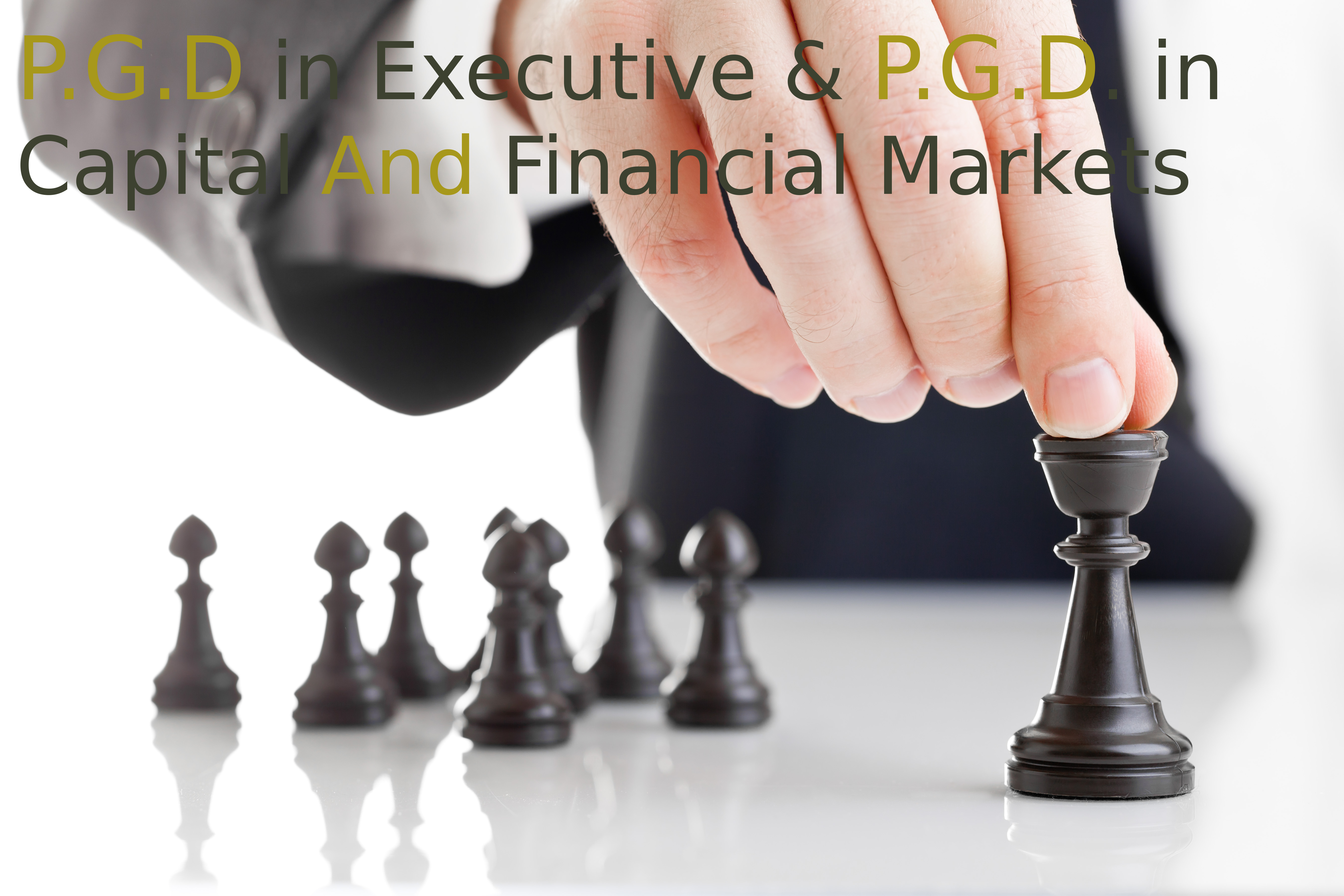 Post Graduate Diploma Executive P.G.D. in Capital And Financial Markets