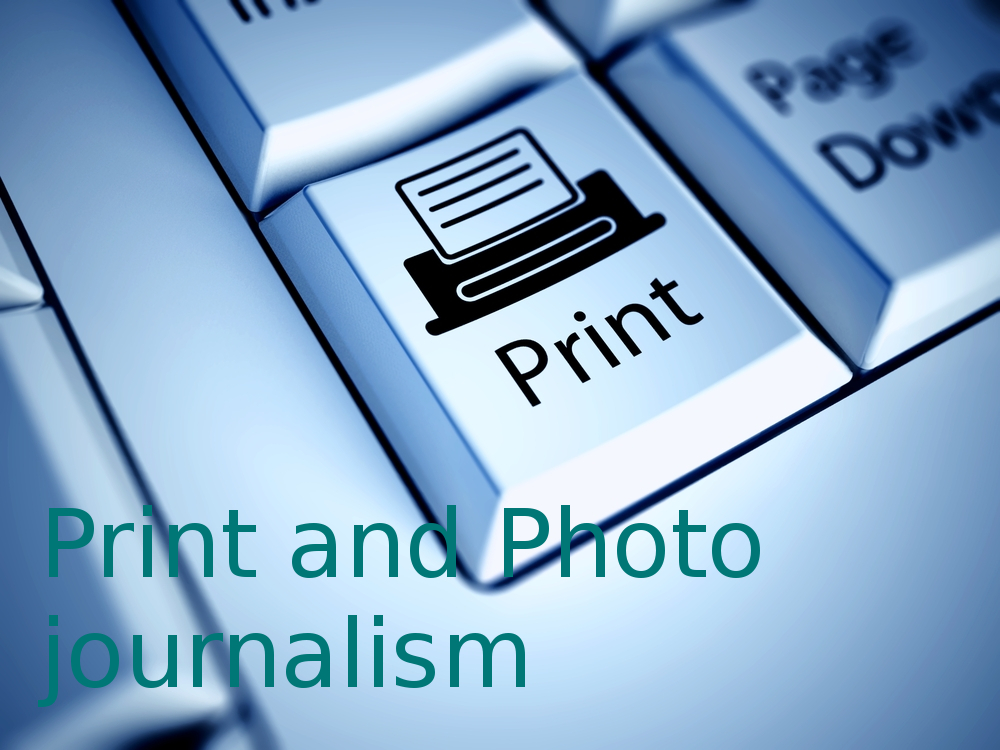 Post Graduate Diploma Print and Photo journalism