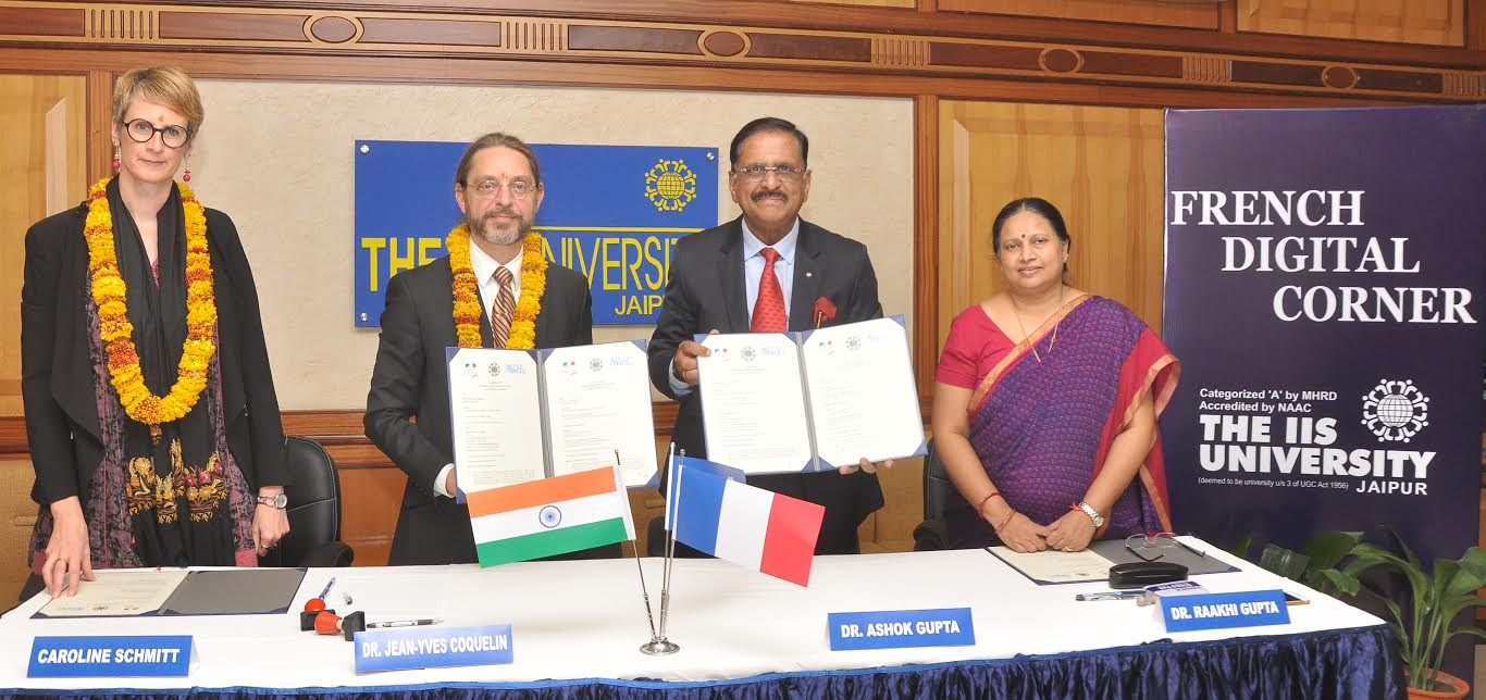 The IIS University and French embassy signed MoU