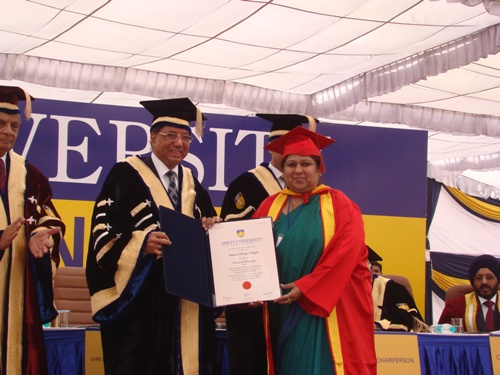 Mr Rajeev Shukla, Minister of Parliamentary affairs honored with Doctorate degree