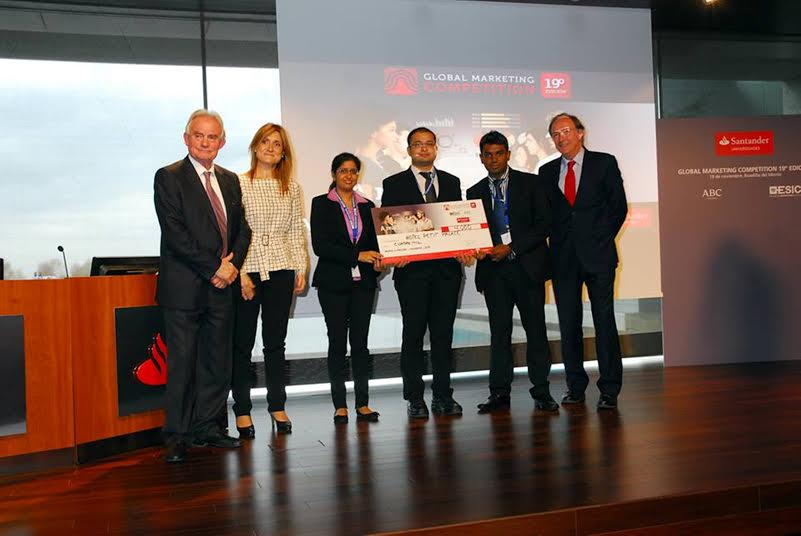 Goa Institute of Management secures 2nd place at the annual Global  Marketing Competition held in Spain