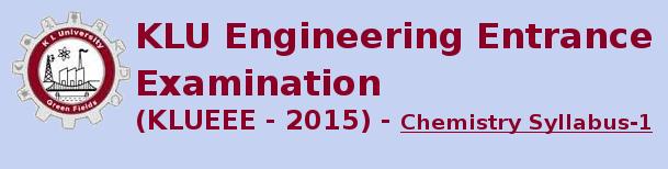 KLUEEE 2015 Chemistry Syllabus-1