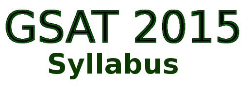 GSAT 2015 Syllabus - MSc Environmental Science