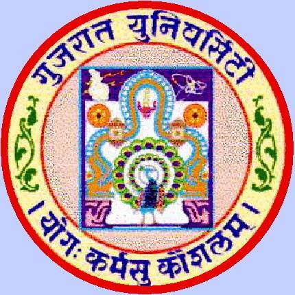Gujarat University Emblem: Yog Karmsu Kaushalam