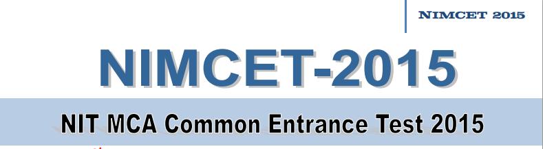 NIMCET 2015 Test Syllabus