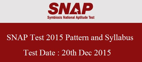 SNAP 2015 Exam pattern