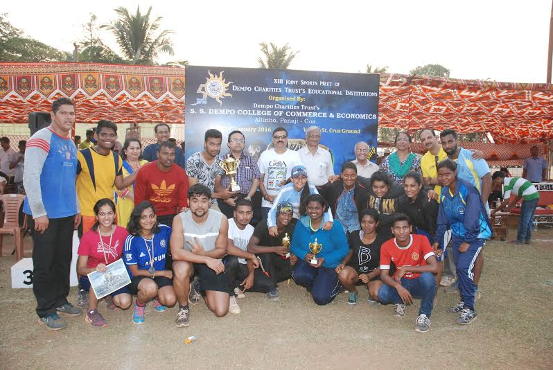 SS Dempo College of Commerce & Economics Hosts the 13th Dempo Charities Trust's Educational Institutions Joint Sports Meet