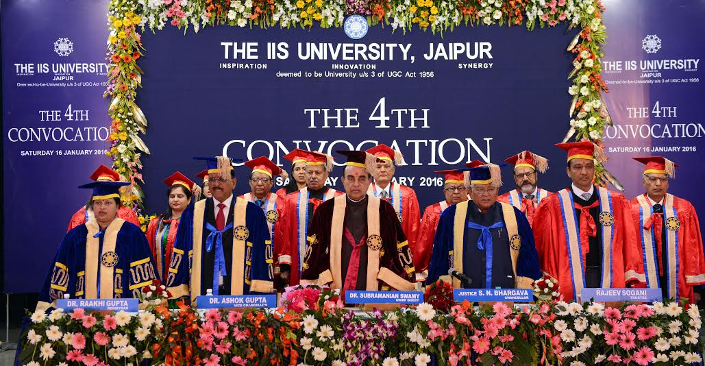 The IIS University holds its 4th Convocation