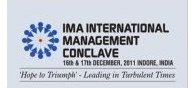 20th IMA International Management Conclave in December