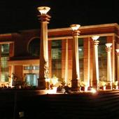 College Building At Night - College Building At Night