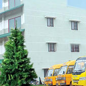 College Building Side view and Transport - College Building Side view and Transport