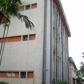 Side view of college building  - Side view of college building