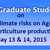 Conference On Impact Of Climate Risk On Agriculture And Horticulture Productivity, Tamil Nadu Agricultural University, May 13-14 2015, Coimbatore, Tamil Nadu