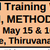 National Level Training Workshop on Contemporary Research, Methodologies And Techniques, Christ University, May 15-16 2015, Thiruvanthapuram, Kerala