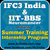 IFC3 India-Summer Training Program on live projects-2015, IIT Bhubaneshwar, April 22 2015- July 31 2015, Bhubaneshwar, Odisha