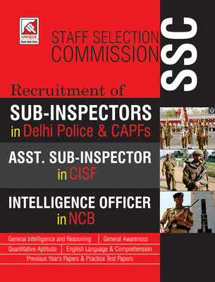 (SSC) Sub-Inspector, Delhi-Police, CAPFs, CISF, NCB (English) by Unique Research Academy