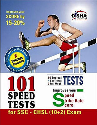 101 Speed Tests for SSC - CHSL (10 + 2) Exam (Success Guarantee) : Improves Your Speed / Strike Rate / Score (English) 1st  Edition by Disha Experts