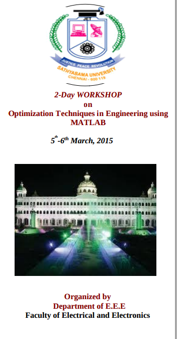 2-Day Workshop on Optimization Techniques in Engineering using