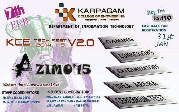 Azimo 15, Karpagam College of Engineering, February 7 2015, Coimbatore, Tamil Nadu