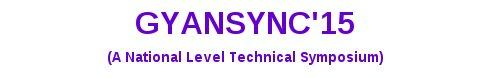 Gyansync 15, KS Rangasamy College of Technology, January 29 2015, Namakkal, Tamil Nadu