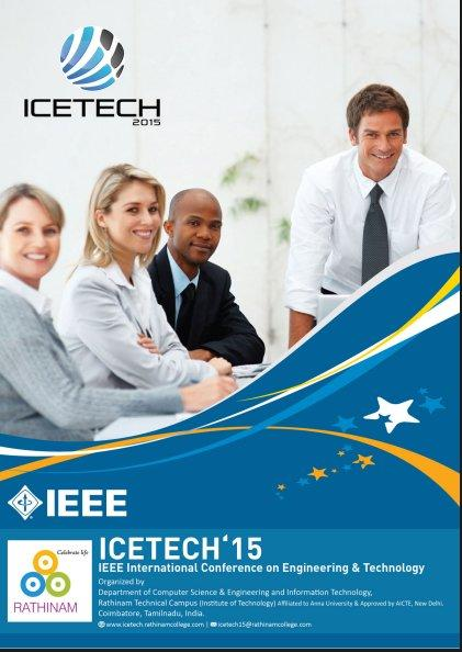 ICETECH, Rathinam College of Arts and Science, March 20 2015, Coimbatore, Tamil Nadu
