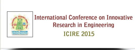 ICIRE 2015, Meenakshi Ammal Engineering College For Women, January 24 2015, Srivilliputtur, Tamil Nadu