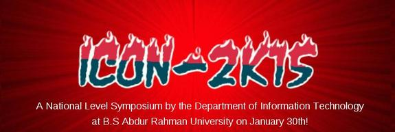 ICON 2k15, BS Abdur Rahman University, January 30 2015, Chennai, Tamil Nadu