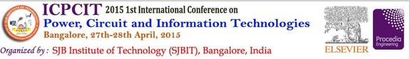 ICPCIT-2015, SJB Institute of Technology, April 27-28 2015, Banglore, Karnataka
