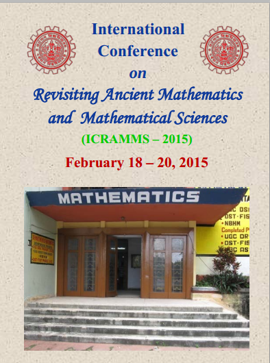 ICRAMMS – 2015, University of Burdwan, February 18-20, 2015, Burdwan, West Bengal