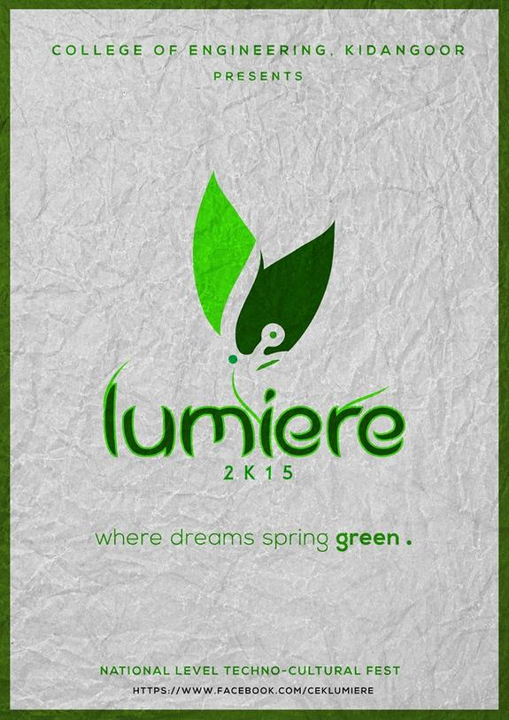 Lumiere 15, College of Engineering Kidangoor, February 3-4 2015, Kottayam, Kerala