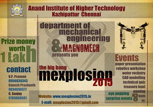 MEXPLOSION 2K15, Anand Institute of Higher Technology, February 7 2015, Chennai, Tamil Nadu
