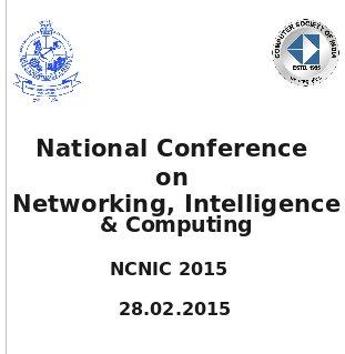 NCNIC-2015, Kongu Engineering College, February 28 2015, Erode, Tamil Nadu
