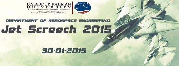 JETSCREECH 2015, B.S.ABDUR RAHMAN UNIVERSITY, 30 Jan 2015, Chennai